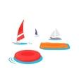 Summer Swimming Accessories Flat Design vector image vector image