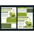 Two flyer green tea vector image vector image