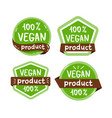 vegan food icon isolated logo vector image vector image