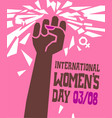 womens day poster breaking glass ceiling vector image