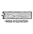 wood in elevation material symbol double hung vector image vector image
