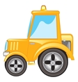 Yellow tractor vector image vector image
