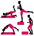 Young woman exercises vector image vector image
