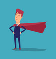 cartoon successful businesman superhero in suit vector image