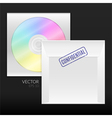 CD or DVD disk with packing envelope vector image