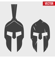Set of Silhouette Spartan helmets vector image
