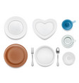 plate set top view vector image
