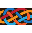 Knot on a rope vector image