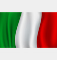3d flag of italy italian national symbol vector image vector image