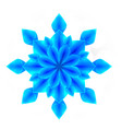 3d of a blue origami snowflake the object is vector image