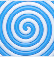 abstract blue candy spiral background vector image vector image