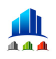 abstract commercial skyline building logo template vector image