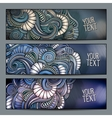 Abstract decorative backgrounds set vector image vector image