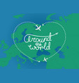 around world concept top view vector image vector image