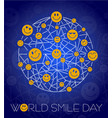 background world smile day line vector image vector image