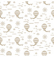 balloon simple line gold and white seamless vector image vector image
