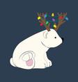 bear in deer costume vector image vector image