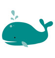 bih blue whale on white background vector image