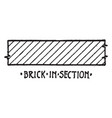 brick in section material symbol brick used in vector image vector image