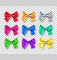 bright bows with shadow set vector image vector image