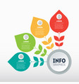 business presentation concept with 4 options vector image vector image