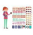 cartoon girl teenager in casual clothes vector image vector image