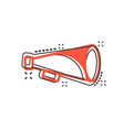 cartoon megaphone icon in comic style bullhorn vector image vector image
