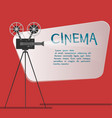 cinema background or banner movie flyer or ticket vector image vector image