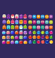 collection of colorful glossy figures of different vector image vector image
