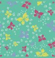 colorful buttereflies seamless pattern vector image vector image