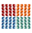 Colorful cubes pattern vector image vector image