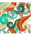 Colorful seamless wave pattern vector image vector image