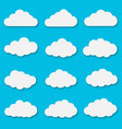 cut out paper clouds vector image vector image