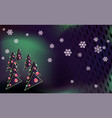 dark modern merry christmas background with green vector image