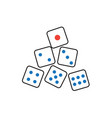 dice icon graphic design template vector image vector image