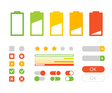 Different interface design Flat design elements vector image vector image