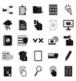 document case icons set simple style vector image vector image