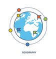 education geography as a subject discipline vector image