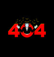 error 404 vampire surprise page not found vector image vector image