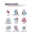 family problems concept line design style icons vector image