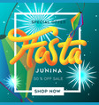 festa junina sale background template vector image vector image
