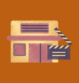 flat icon in shading style building cinema vector image