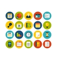 Flat icons set 8 vector image vector image