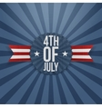 Fourth of July realistic Badge vector image vector image
