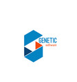 genetic software identity sign vector image