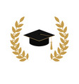 gold emblem class on white background graduate vector image vector image