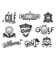 golf sport club labels team championship signs vector image