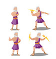 greek gods thunder cartoon set vector image vector image