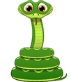 Green snake vector image