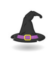 halloween witch hat isolated on white background vector image